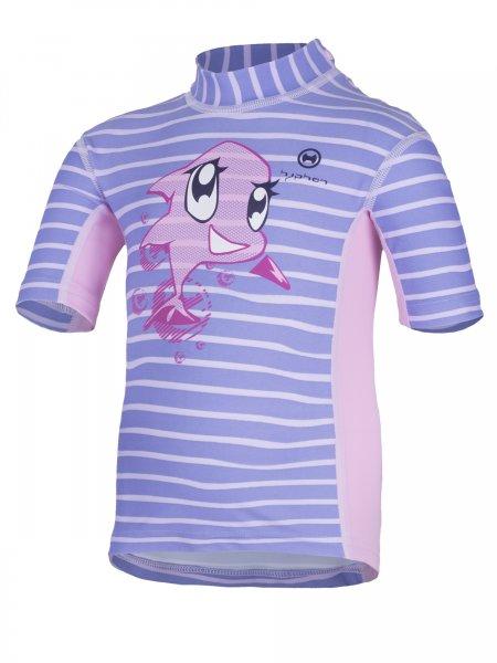 T-Shirt 'siri striped sweet lave'