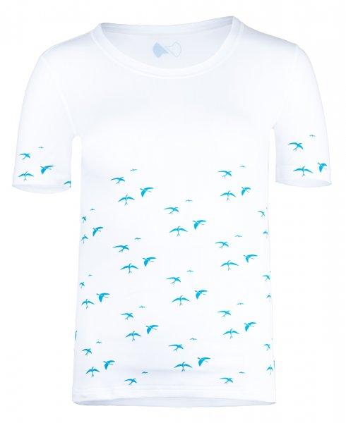UV Shirt 'birdy white'