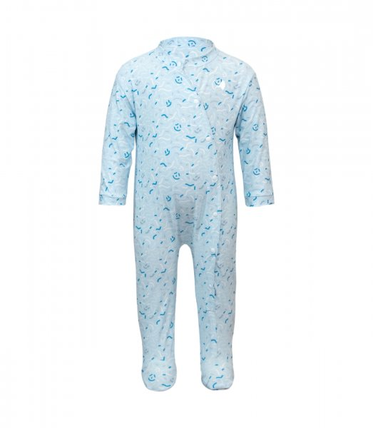 Strampler 'mico ice blue'