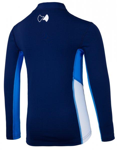 Langarmshirt 'coo blue iris / cielo / white'