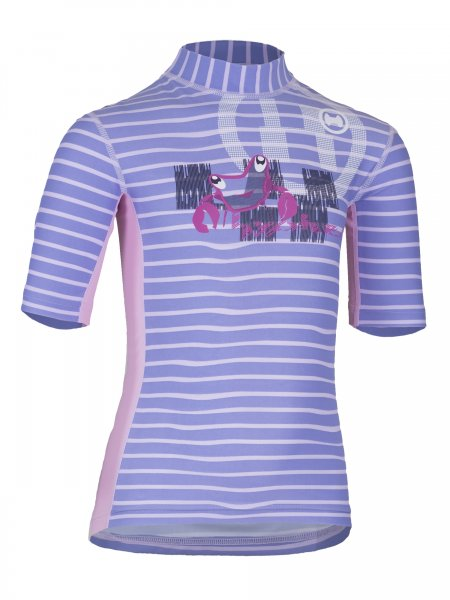T-Shirt 'tenkie striped sweet lave'