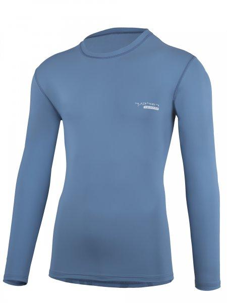 Langarmshirt 'pali stone blue'