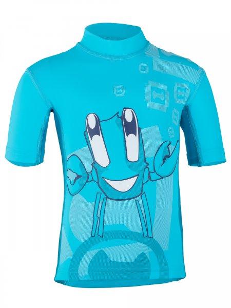 T-Shirt 'juggling ike moloki azur / capri'