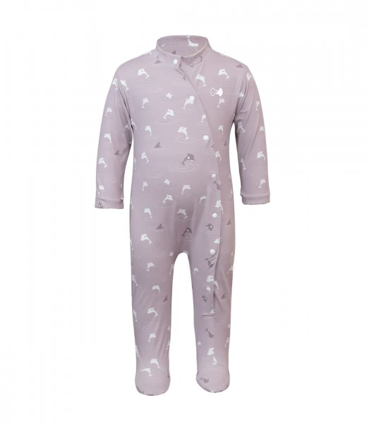 UV romper suit 'dolphins pale aubergine'