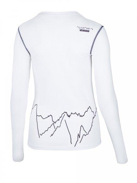 Partois Women Langarmshirt white