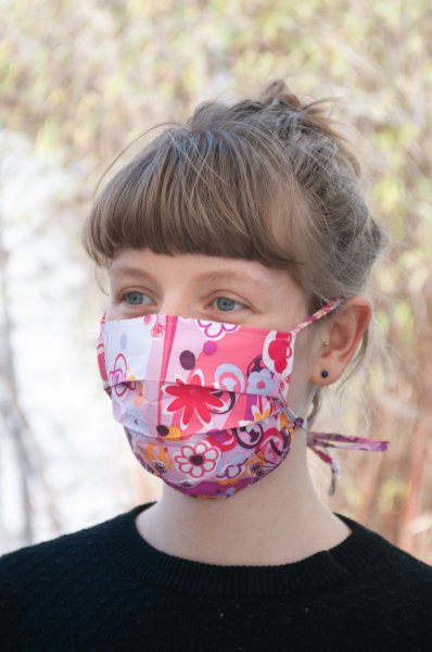 Face mask for mouth and nose, single-layer (children)