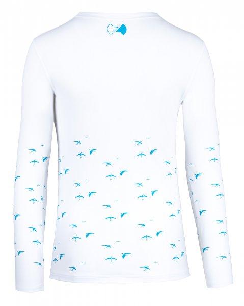 UV Langarmshirt 'birdy white'