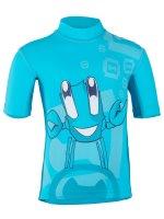 Preview: T-Shirt 'juggling ike moloki azur / capri'