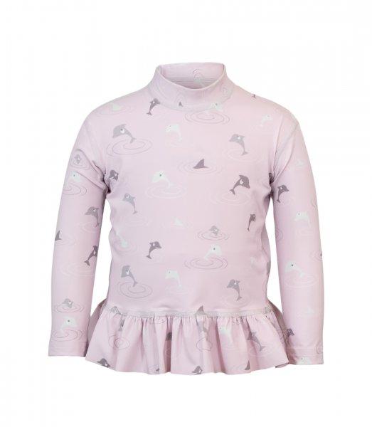 Ruffle UV Langarmshirt 'dolphins rose'