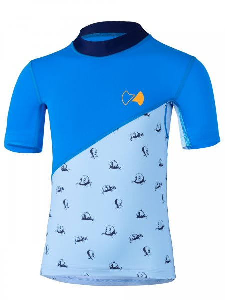 Kurzarmshirt 'repa cielo / pid blue'