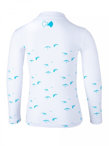 Langarmshirt 'birdy white'